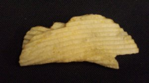 Potato chip that looks like a whale.