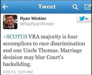 Ryan Winkler Tweet
